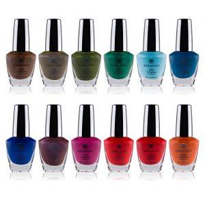 shany cosmetics nail polish set 12 bold and quirky shades in gorgeous semi
