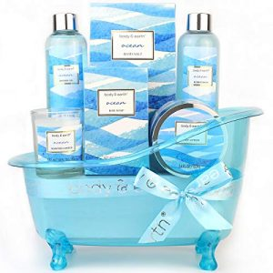 bath gift set for womenbody earth home spa kit scented with oceanbath and