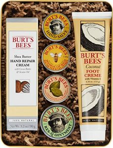 burts bees classics gift set 6 products in giftable tin cuticle cream