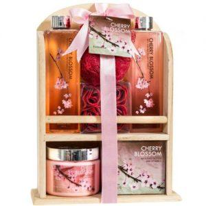 home spa gift basket deluxe cherry blossom fragrance luxury bath body