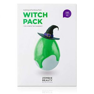 skin1004 witch pack face mask 8ea creamy mud pack with green tea water