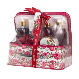 spa life all natural bath and body luxury spa gift set basket sweet love